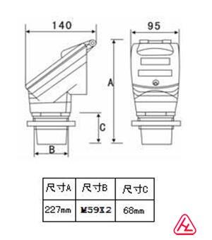 超声波测距lcd1602电路图