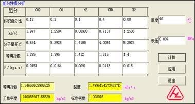 煤气、烟道气组分分析 计算